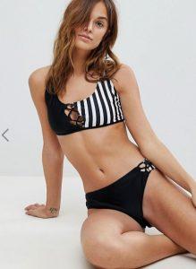 dichromo bikini me riges