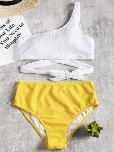enas wmos, lefko-kitrino bikini