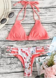 floral roz bikini
