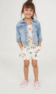 floral paidiki forma oloswmi h&m