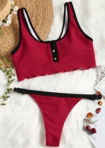 kokkino sporty bikini