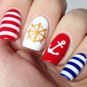 kokkino rige, mple rige manicure