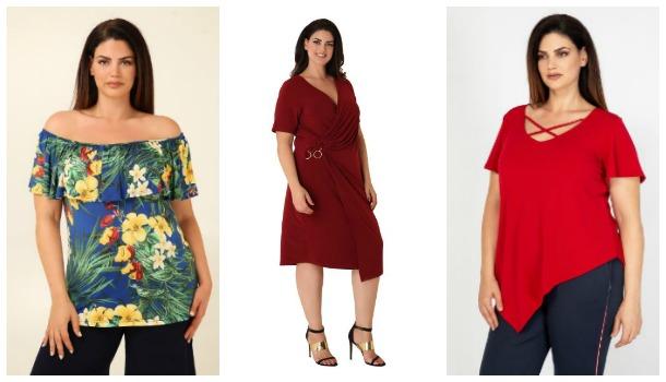 Γυναικεία Plus size ρούχα Parabita για το καλοκαίρι από 10€