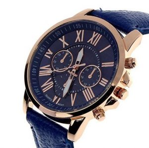 rose gold- navy blue roloi