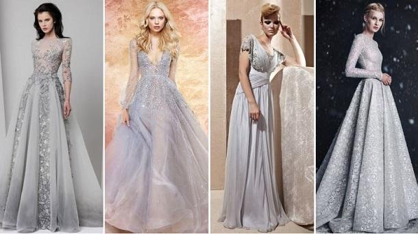 Ασημί νυφικά φορέματα που θα σε κάνουν να λάμπεις!