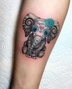 gliko elefantaki tattoo