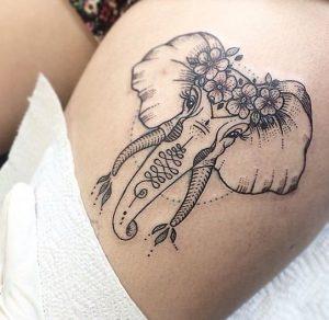 omorfos elefantas tattoo