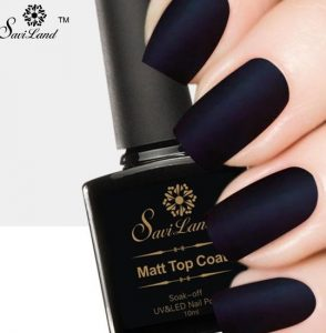 blue black matte manicure