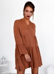 brown dress e-diva.gr