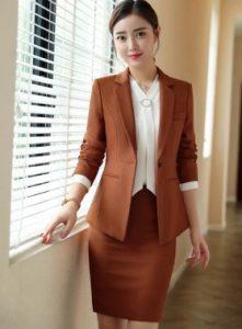 brown skirt and coat e-diva.gr