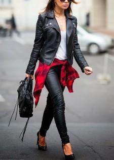 Μπορείς να φορέσεις το δερμάτινο κολάν σου με ένα δερμάτινο σακάκι.  Αποτελεί έναν υπέροχο και σέξι συνδυασμό b9e77dc379f