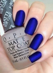 electric blue manicure