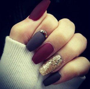 glam matte manicure