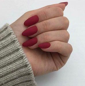 kokkino matte manicure