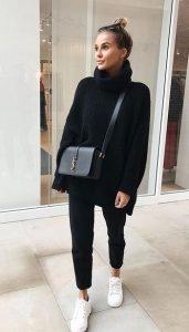 mavro outfit, lefka papoutsia