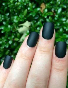 prasino matte manicure