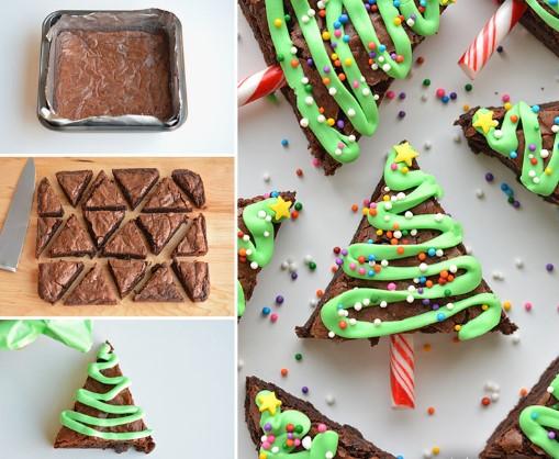 Εύκολα και εντυπωσιακά Χριστουγεννιάτικα brownies με σοκολάτα!