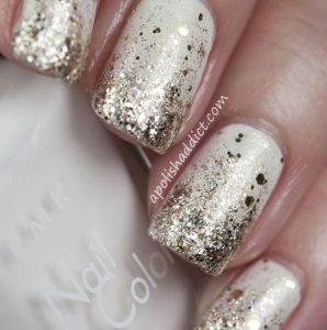 lefko me glitter manicure