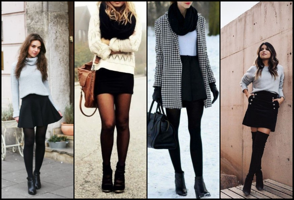 25 Outfits με μαύρη φούστα για τον χειμώνα!