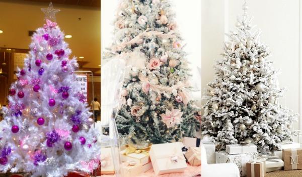 14 Μοντέρνες ιδέες για στολισμό λευκού Χριστουγεννιάτικου δέντρου!