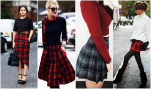29 Γυναικεία outfits με σκωτσέζικη φούστα!
