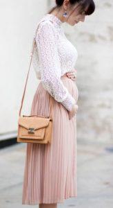 roz plise fousta gia egkuo
