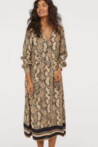 oversize skin pattern dress