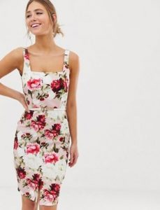 αμάνικο floral φόρεμα