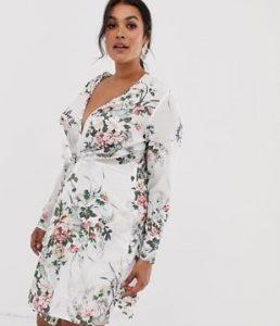 λευκό Plus size φόρεμα