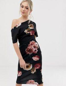 μαύρο off shoulder φόρεμα