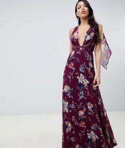 μάξι floral φόρεμα