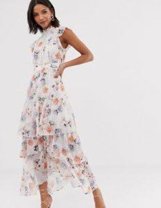 μίντι λευκό φόρεμα