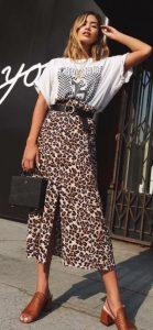 μίντι λεοπάρ φούστα