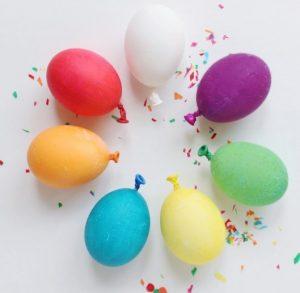 μπαλόνια πασχαλινά αυγά