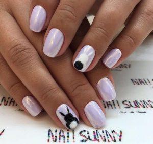 ροζ απαλο νυχια με λαγουδακια