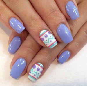 μοβ νυχια με σχεδια