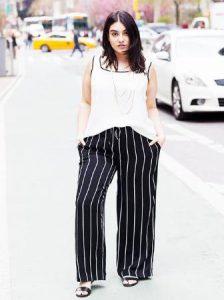 παντελόνι μαύρο με ρίγες