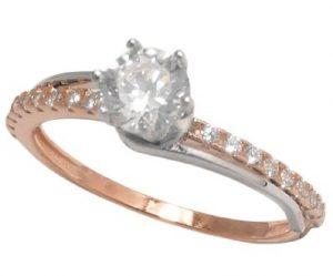 ροζ χρυσό δαχτυλίδι αρραβώνα