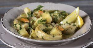 συνταγή αγκινάρες, ediva.gr