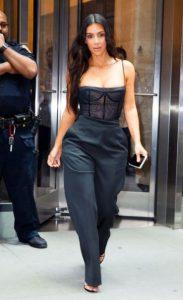 total black look kardashian