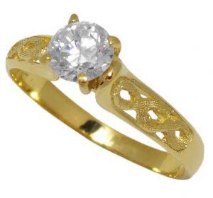 χρυσό δαχτυλίδι αρραβώνα