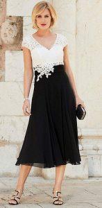 φορεμα μιντο μαυρο ασπρο για μαμα
