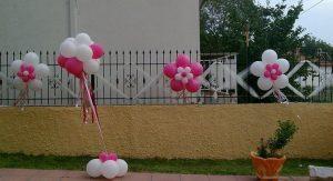 διακοσμηση γαμου σε μπαλκονι με μπαλονια