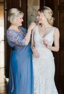 μπλε ανοιχτο φορεμα για τη μαμα της νυφης