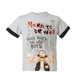 αγοριστικο μπλουζακι κοντομανικο γκρι