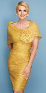 κιτρινο μοντερνο φορεμα για μαμα και πεθερες