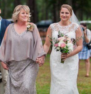 νυφη και μητερα στο γαμο