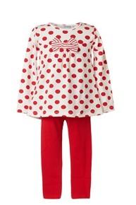 σετ κοκκινη μπλουζα και παντελονι παιδικο