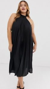 μαύρο plus size βραδινό φόρεμα ediva.gr