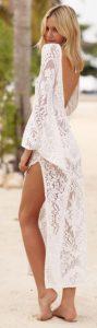 μακρύ λευκό φόρεμα